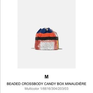 Zara rainbow sequin mini bucket bag